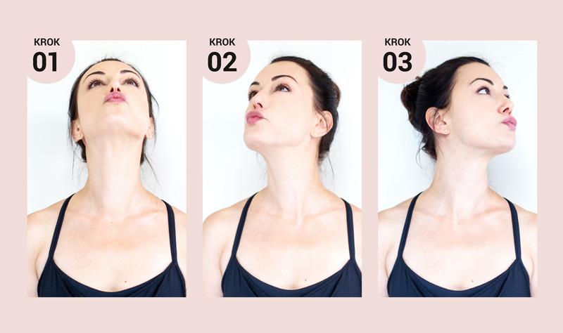 joga twarzy podbródek