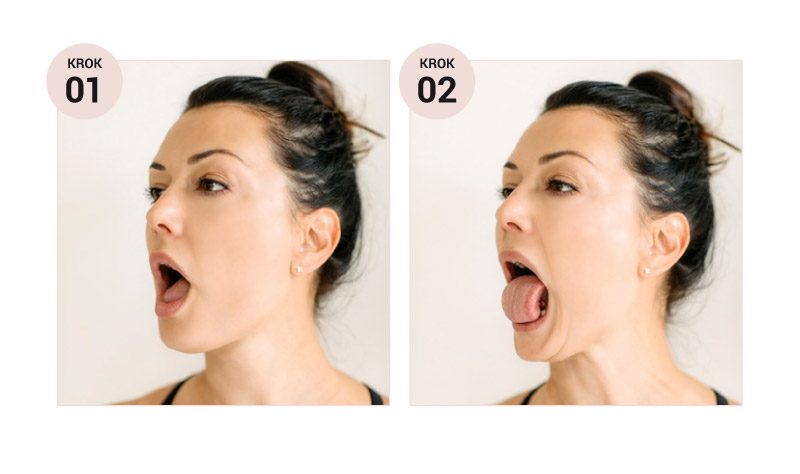 Joga piękna język w pozycji kobry